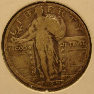 1929 D Standing Liberty Quarter Type II Obverse