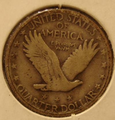 1929 D Standing Liberty Quarter Type II Reverse