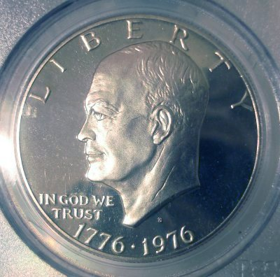 Eisenhower 1976 Obverse S Clad